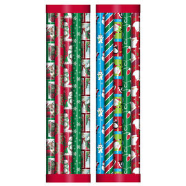 Plus Mark Gift Wrap - 5 pack - 30x600in - 083931LDT - Assorted