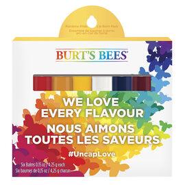 Burt's Bees Rainbow Pride Lip Balm Pack - 6 x 4.25g