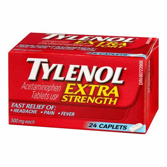 Tylenol* Extra Strength Caplets - 24's