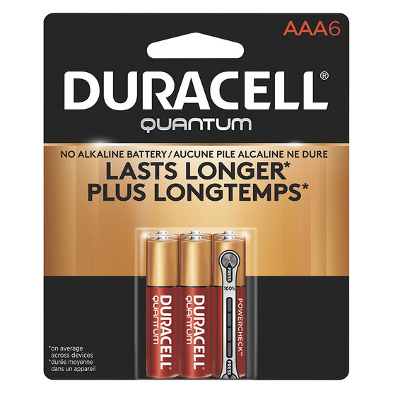 Duracell Quantum AAA Batteries - 6 pack