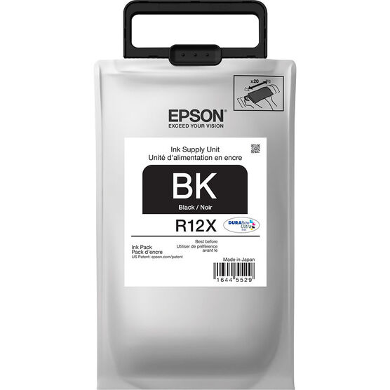 Epson R12X DuraBrite Ultra Ink Pack - Black - TR12X120