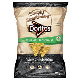 Simply Doritos Organic Tortilla Chips - White Cheddar - 213g