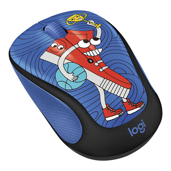 Logitech M325c Doodle Collection Wireless Mouse - Sneaker Head - 910-005033