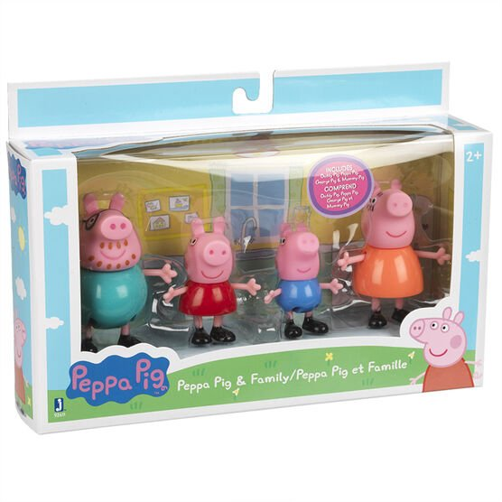 Peppa Pig and Family Figures - 3in - 4  pack