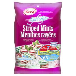 Kerr's Light Stiped Mints - No Sugar Added - 90g