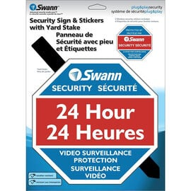 Swann Warning Lawn Sign - SW276-YSS