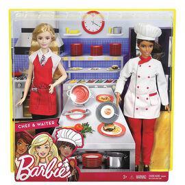 Barbie Chef & Waiter Dolls