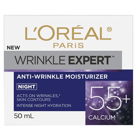 L'Oreal Wrinkle Expert Anti-Wrinkle Moisturizer 55+ Calcium - Night - 50ml