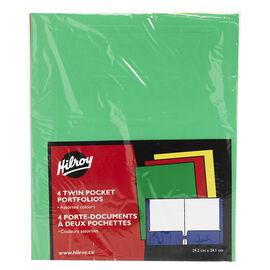 Hilroy Twin Pocket Portfolio - 4 pack