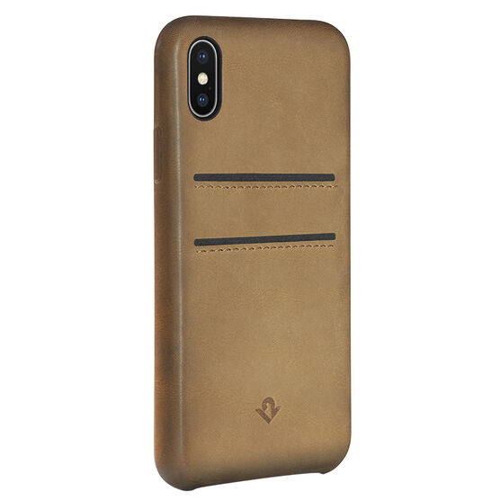 Twelve South Relaxed Leather Case with Pockets for iPhone X - Cognac - TS121737