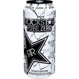 RockStar Pure Zero Energy Drink - Silver Ice - 473ml