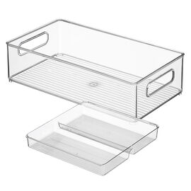 InterDesign Storage - 8 x 14 x 4in - 2 piece