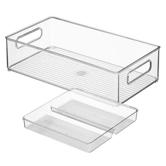 InterDesign Storage - 8 x 14 x 4in - 2 piece
