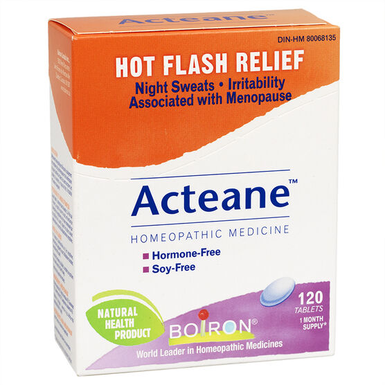 Boiron Acteane Tabs Hot Flash Relief - 120's