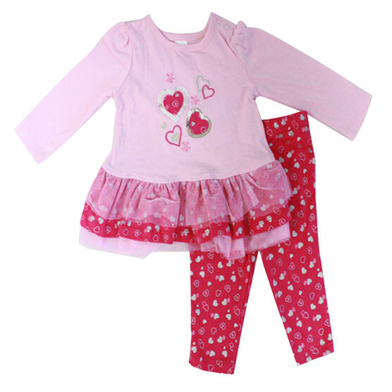 Baby Mode Metallic Hearts Outfit - 12-24 months - Assorted