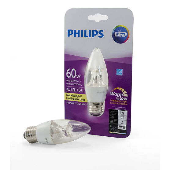 Philips Chandelier Medium Base B13 LED Bulb - Soft White - 60W