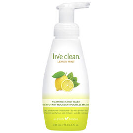 Live Clean Foaming Hand Wash - Lemon Mint - 400ml