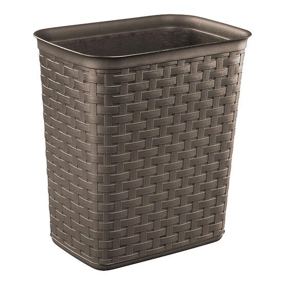 Sterilite Weave Wastebasket- Espresso