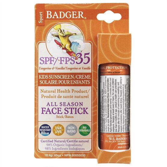 Badger All Season Face Kids Sunscreen - SPF35 - 18.4g