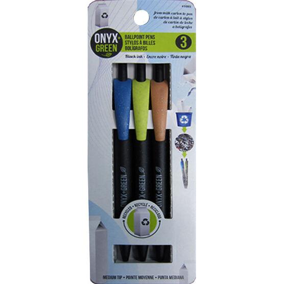Onyx Green Pens - 3 pack