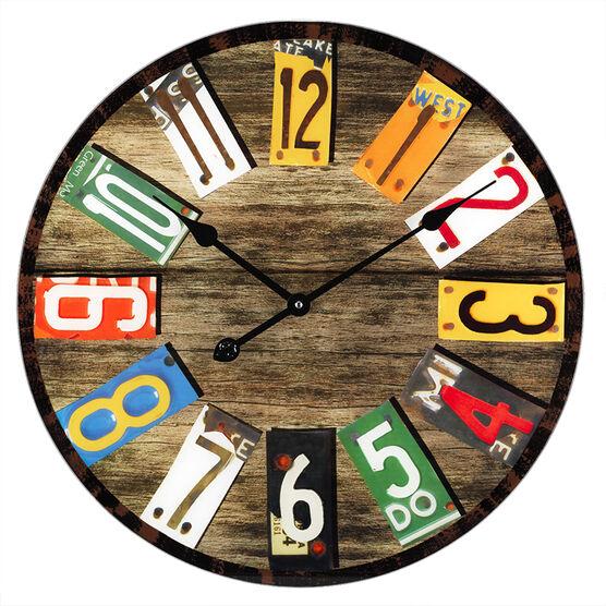London Drugs Glass Wall Clock - Vintage