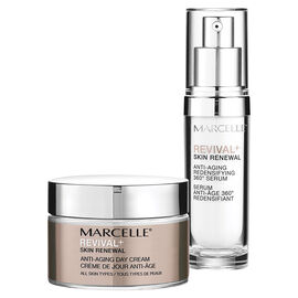 Marcelle Revival+ Skin Renewal Morning Routine: Day Cream + Serum