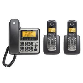 Motorola 3-Handset Corded/Cordless Phone - Black/Silver - M803C