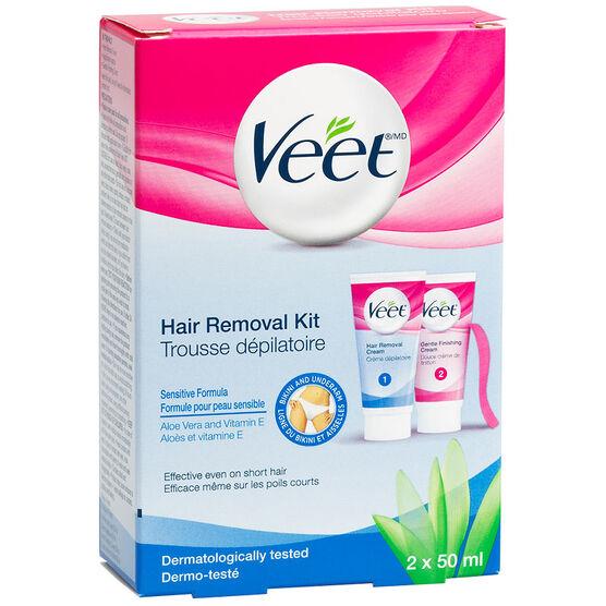 Veet Hair Removal Bikini Kit - Sensitive Formula - 2 x 50ml