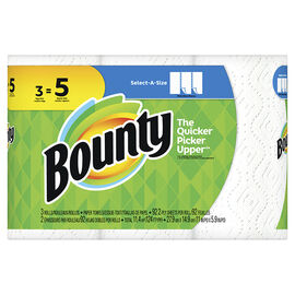 Bounty Paper Towels Select-A-Size - 3 Mega Roll