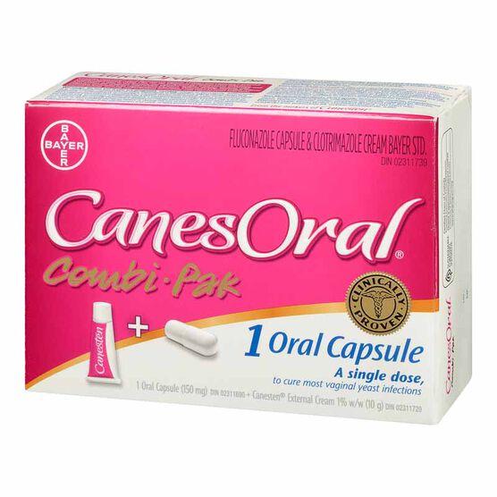 CanesOral Combi Pak Cream/Caplet - 10g/150mg