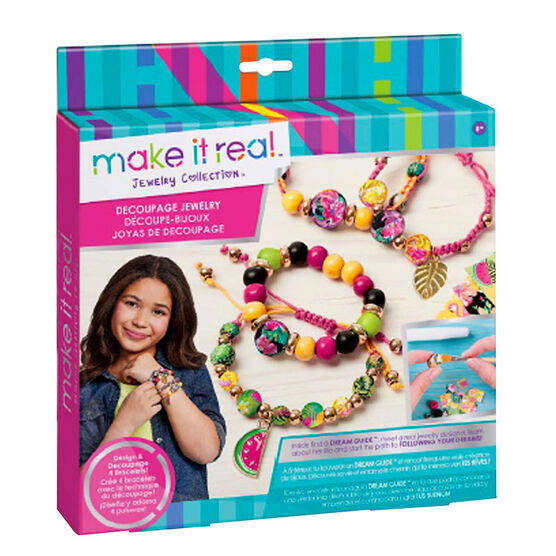 Make It Real Decoupage-a-Bead Jewelry