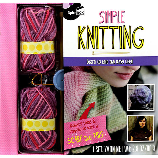 Spicebox Simple Knitting Gift Set