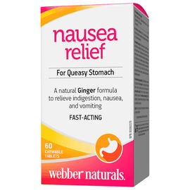 Webber Naturals Organic Ginger Clinical Strength Chewable - 60's