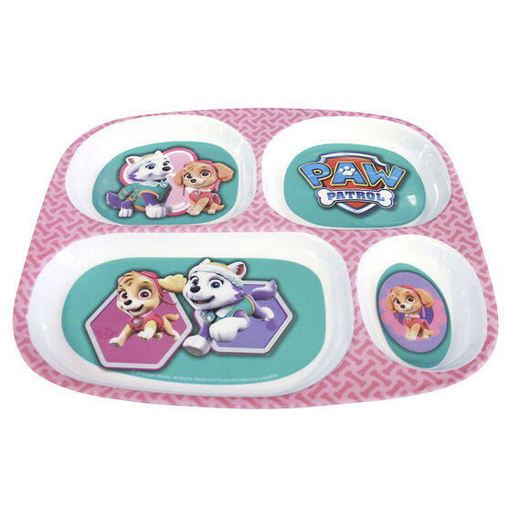 Paw Patrol Girl's Melamine Plate With Dividers