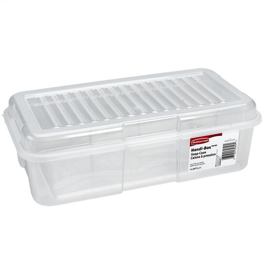 Rubbermaid See-Through Snap Case - Clear Blue - 5.7L