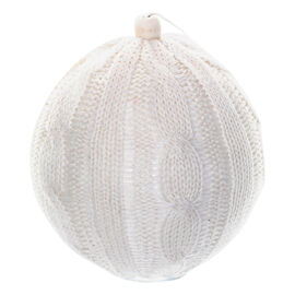 Peppermint Cocoa Ornament Ball Knitted - White