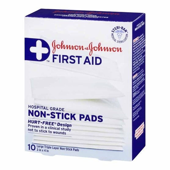 Johnson & Johnson Non-Stick Pads - 7.5 x 10cm