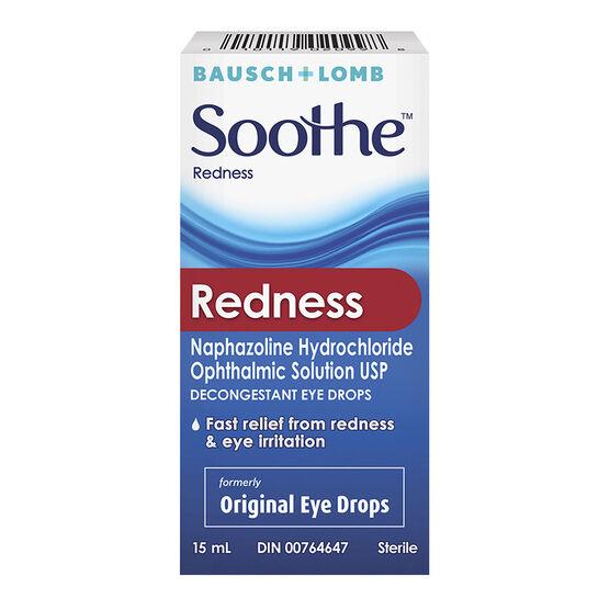 Bausch & Lomb Soothe Redness Original Eye Drops - 15ml
