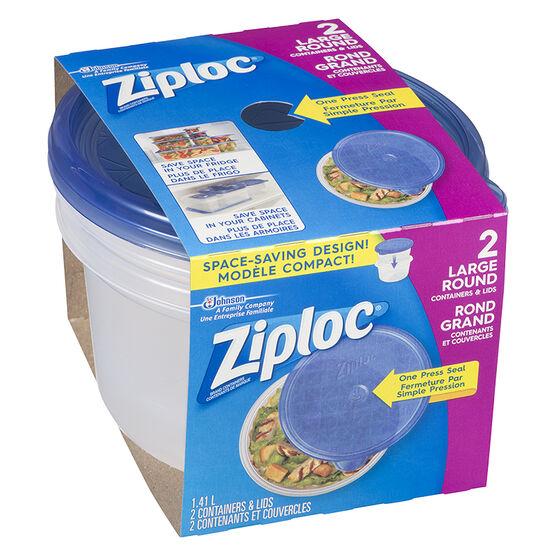 Ziploc Round Containers - Large - 2's