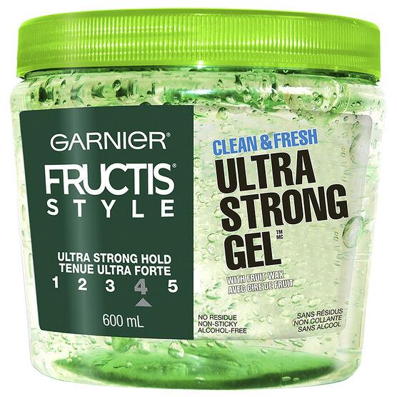 Garnier Fructis Style Clean & Fresh Gel - Ultra Strong - 600ml