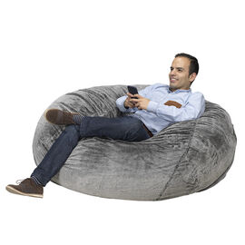 London Drugs Giant Foam Bean Bag Chair - Grey