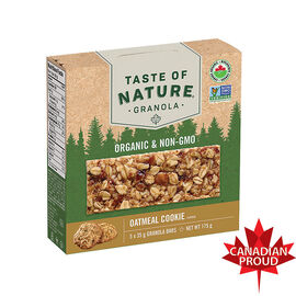 Taste Of Nature Granola Bar - Oatmeal Cookie - 5 x 35g