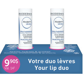 Bioderma Atoderm Lip Stick Duo