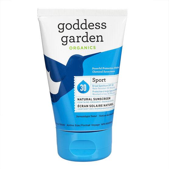 Goddess Garden Organics Sport Natural Sunscreen - SPF 30 - 100ml