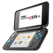 Nintendo 2DSXL Hand Held Gaming Console - New Edition - Black / Turquoise