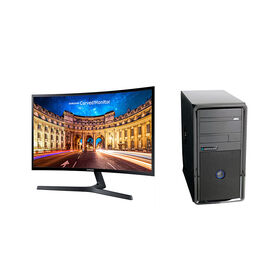 Certified Data Ryzen 3 2200G Desktop with Samsung LC27F396 27inch Curved Monitor - PKG #13815
