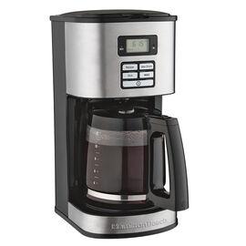Hamilton Beach Digital Coffeemaker - 12 Cup - Black/Stainless Steel - 49618C