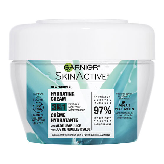 Garnier SkinActive Hydrating Cream 3 in 1 - Normal to Combination Skin - 200ml