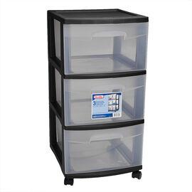 Sterilite 3 Drawer Cart - Black