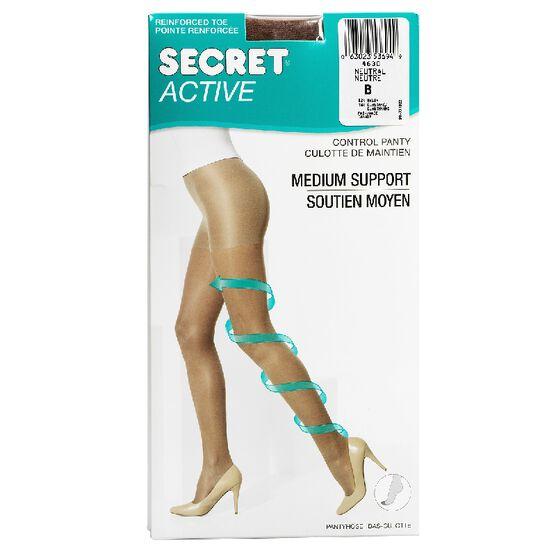 Secret Slimmers Active Leg Pantyhose - B - Neutral